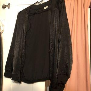 Jackets & Coats - black light bomber jacket